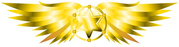 Sheriff star with wings Stock Photography