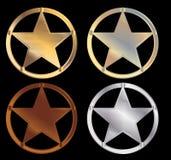 Sheriff stars Stock Photo
