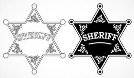 Sheriff stars Stock Photography