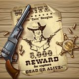 Sheriff Stars Vintage Design Royalty Free Stock Photography