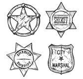 Sheriff stars. Stock Images