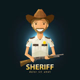 Sheriff vector logo design template. police, LAPD Royalty Free Stock Photo