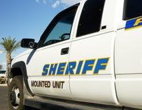 Sheriff vehical imágenes de archivo libres de regalías