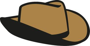 Sheriff western hat. Occupation vector Royalty Free Stock Photography