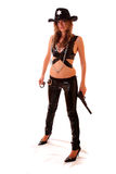 Sheriff woman and  gun Stock Image