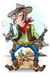 A sheriff at work. Vector cartoon illustration of a sheriff at work Royalty Free Stock Images