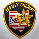 The Sherifff department patch for the counties in the state of Ohio. USA royalty free stock images
