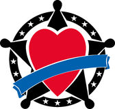 Sheriffkenteken met hart Stock Foto's