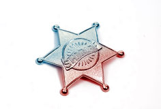 Sheriffs Badge 2. Sheriffs Badge With Color Tinting stock image