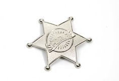 Sheriffs Badge. On White Background stock photography