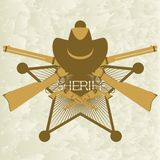 Sheriffs badge-3 Stock Image