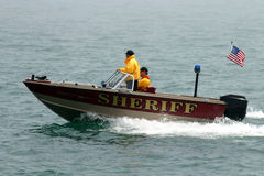 Sheriffs Boat On Patrol Stock Photo
