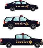 Sheriffs car on a white background in a flat style Royalty Free Stock Photo