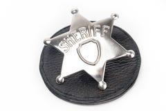 Sheriffs emblem som isoleras på vit royaltyfria foton