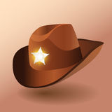 Sheriffs leather hat Royalty Free Stock Photos
