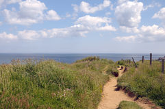 Sheringham coast path Stock Images