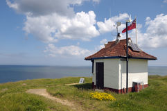Sheringham coastguard hut Stock Photo