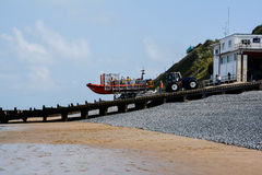 Sheringham Lifeboat. Station is an RNLI operated lifeboat station located in the town of Sheringham in the English county of Norfolk. Since 1992, the station Stock Images