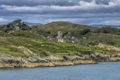 SHERKIN海岛,爱尔兰- 2018年8月23日:方济会修士Sherkin男修道院 免版税库存照片