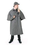 Sherlock: Detective Glances To Side. Man dressed as detective Sherlock Holmes Stock Photos