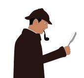 Sherlock the detective stock illustration
