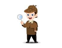 Sherlock Detektiv-Maskottchen Stockbild