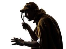 Sherlock holmes剪影 免版税图库摄影