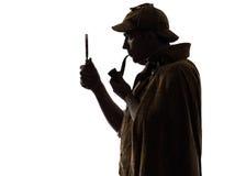 Sherlock holmes剪影 库存照片