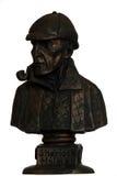 Sherlock holmes雕象 免版税库存照片