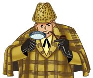 Sherlock Holmes. Illustration of detective Sherlock Holmes Stock Photography