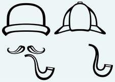 Sherlock Holmes. Agente investigativo dell'icona illustrazione di stock