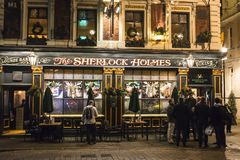 Sherlock Holmes-bar, Westminster, Londen, Engeland, het UK royalty-vrije stock foto