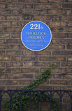 Sherlock Holmes Blue Plaque no padeiro Street Fotos de Stock