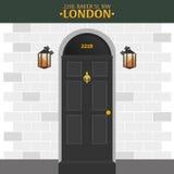 Sherlock Holmes Detektiv- illustration Illustration med Sherlock Holmes Bagaregata 221B London stort förbud vektor illustrationer