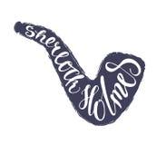 Sherlock Holmes-het van letters voorzien in pijp Royalty-vrije Stock Fotografie