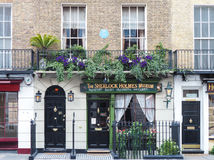 Sherlock Holmes house and museum in 221b Baker Street, London Stock Photos