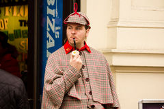 Sherlock Holmes in London Royalty Free Stock Photography