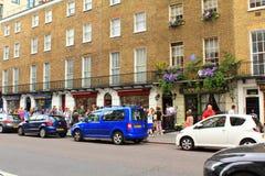 Sherlock Holmes-Museum Bäcker Street London Stockbilder