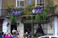Sherlock Holmes-Museum Bäcker Street London Lizenzfreies Stockfoto