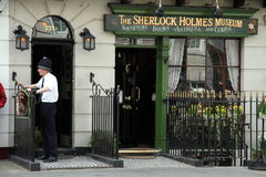 Sherlock Holmes Museum, Bäckerstraße, London Lizenzfreie Stockbilder