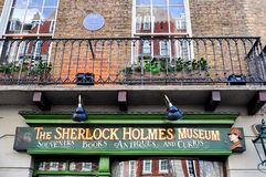 Sherlock Holmes museum on Baker street 221b, London, UK stock photo