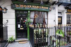 Sherlock Holmes Museum -Billboard shield Stock Images