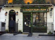 Sherlock Holmes Museum, London stockbilder