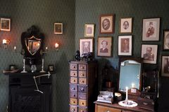 Sherlock Holmes Museum. The London address of the fictional detective Sherlock Holmes Stock Images