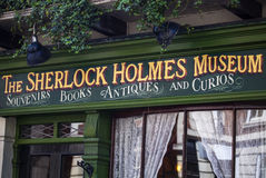 The Sherlock Holmes Museum in London Stock Images