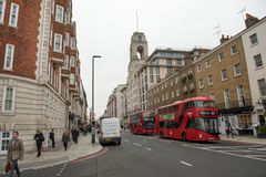 Sherlock Holmes Museum, rue 221b, Londres de Baker photos libres de droits