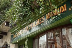Sherlock Holmes Museum, rue 221b, Londres de Baker images libres de droits