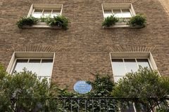 Sherlock Holmes Museum, rue 221b, Londres de Baker image stock