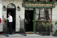 Sherlock Holmes Museum, rue de Baker, Londres Images libres de droits