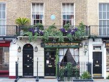 Sherlock Holmes muzeum w 221b Piekarnianej ulicie i dom, Londyn Zdjęcia Stock